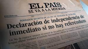 El diario El País añade a su nombre la frase «se va a la mierda»