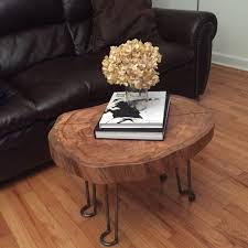 ... Plant Wood Log Coffee Table Sample Wooden Brown Magazine Books Pot  Flower Prodigious Adorable ...