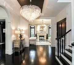 large foyer lighting ensemble polished nickel