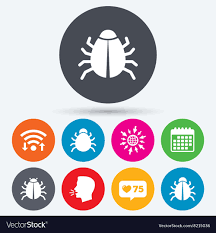 Graphic Design Software Icons Bugs Signs Virus Software Error Icons