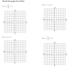 graphing in slope intercept form worksheet worksheets for all on