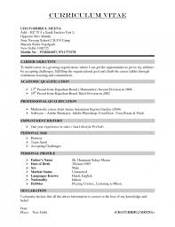 Stylish Hobbies For Resume For Freshers Resume Format Web