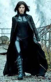 womens broad collar style black leather trench underworld coat taken from underworld awakening