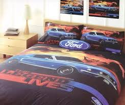 Ford The Legend Lives Queen Bed - Bedroom - Quilt Cover Set ... & Ford The Legend Lives Queen Bed - Bedroom - Quilt Cover Set - Includes  Pillowcase - Adamdwight.com