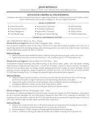 Chemical Engineer Resume Free Resume Templates 2018