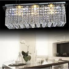 modern k9 rectangle led crystal chandelier balcony lamp aisle lights ceiling light pendant lamps