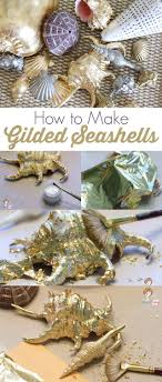 Diy Crafts Ideas Easy Seashell Craft How To Make Gilded