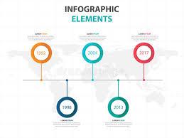 Business Timeline Infographics Elements, Presentation Template Flat ...
