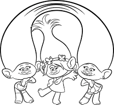 Trolls Coloring Pages Colors Of Pictures