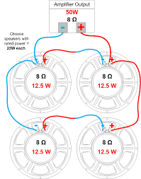 speaker impedance, power handling and wiring amplified parts Series Parallel Wiring Diagram 3 Wire example multiple speaker series parallel wiring