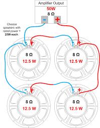 speaker impedance, power handling and wiring amplified parts Speaker Wiring Diagram Series Vs Parallel example multiple speaker series parallel wiring speaker wiring diagram series vs parallel