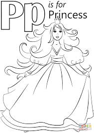 Small Picture Letter P is for Princess coloring page Free Printable Coloring Pages