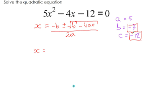 quadratic formula part 3 solving without a calculator