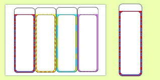 Bookmark Template Word Bookmarks For Kids Template Free Editable Blank Bookmark