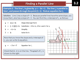 finding a parallel line