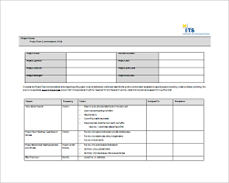 It Project Plan Template Cool 48 Project Communication Plan Templates Free Sample Example
