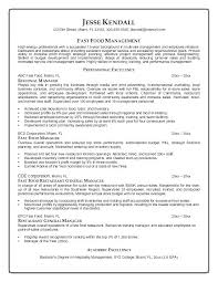 General Manager Resume Templates Letsdeliverco Stunning Restaurant General Manager Resume