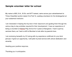 Sample Volunteer Letter Sample Letter Requesting Volunteer Work Top Form Templates