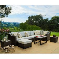 matura 10 piece brown wicker patio furniture set by corvus free