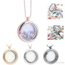 2021 30mm floating lockets necklaces