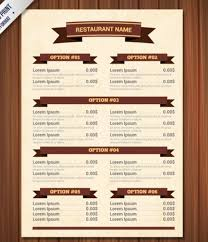 blank menu template free download template for menu restaurant menu template vector free download