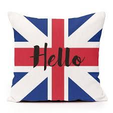 Hello with British flag