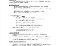 Example Of Nursing Resume Hospital Nurse Astounding Sample Nursing