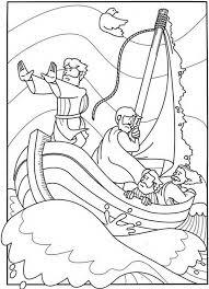 Bijbelse Kleurplaat Storm Op Het Meer Jezus En De Storm Op Het Meer