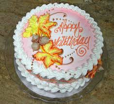 Decorated Birthday Cakes Cake Decorating Fall Leaves Design Piped On Tutorial Youtube