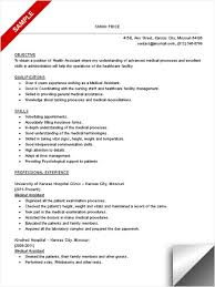 medical assistant skills and abilities sample resume objectives for healthcare