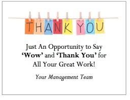 Thank You Note To Employee Appreciation Notes To Employees Rome Fontanacountryinn Com