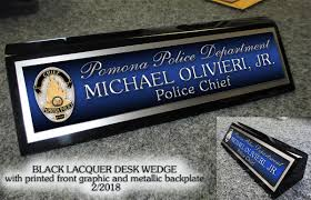 custom desk name plates police ayresmarcus