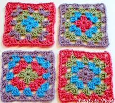 Easy Crochet Granny Squares Free Patterns Beauteous Pretty Simple Granny Square AllFreeCrochetAfghanPatterns