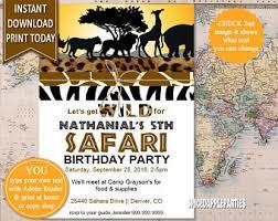 Safari Party Invitations Safari Invite Etsy