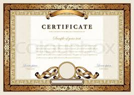 Corporate Certificate Template Impressive Vintage Certificate With Gold Luxury Ornamental Frames Coupon