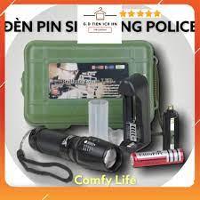 Đèn pin cầm tay siêu sáng chống nước tự vệ chuyên dụng hộp full box đầy đủ  phụ kiện