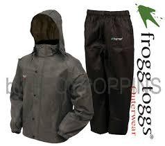 Frogg Togg Rain Gear Size Chart Frogg Toggs Rain Gear As1310 105 Mens All Sport Stone Black Suit Golfing Wear Ebay