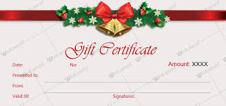 Microsoft Word Gift Certificate Templates Microsoft Word Gift Certificate Template Christmas Free 3959