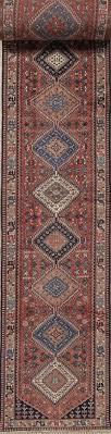 33 long runner geometric yalameh persian hand knotted rug 3x33