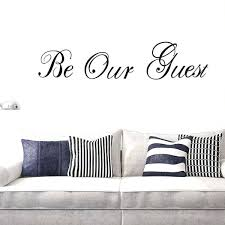 personalized vinyl wall art home decor sayings be our guest es custom decals stickers silho