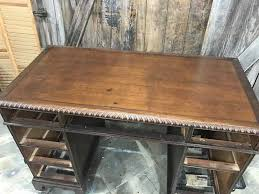 how to save the leather top on a vintage desk leather desktop stained