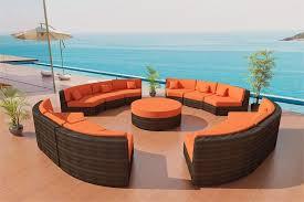 zanzibar wicker patio furniture set 10 bronze and tropical