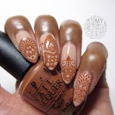 Henna Nails manicure with Morgan Taylor New School Nude for the ...