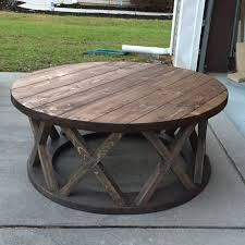 inspiring round rustic coffee table 11 tables for diy distressed within ideas 14