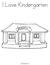 Small Picture I Love Kindergarten Coloring Page Twisty Noodle