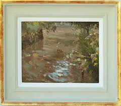 original oil painting in water-gilded frame