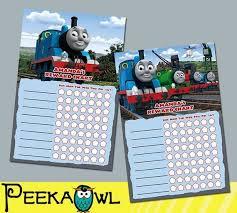 Printable Thomas The Train Theme Personalized Behavior Chart