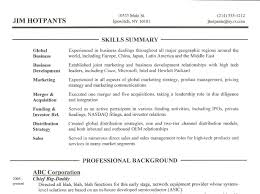 qualifications summary resumes resume qualifications summary resume example