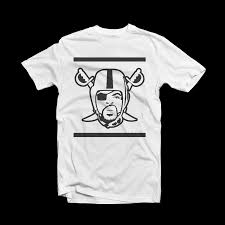 Oakland Raiders T Shirt - Ice Cube Raiders Logo White Tee [Best Design]