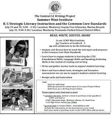 Central California Writing Project Past Events